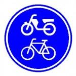 Verkeersbord-fiets-bromfietspad